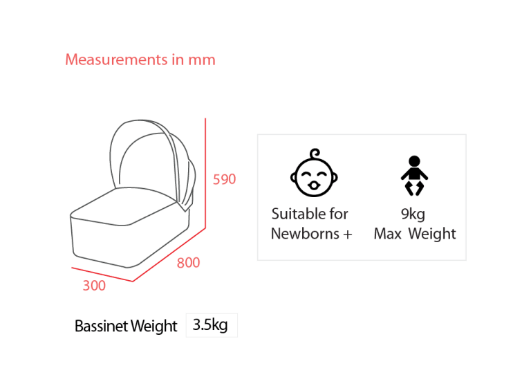 Trend Duo Bassinet Measurements